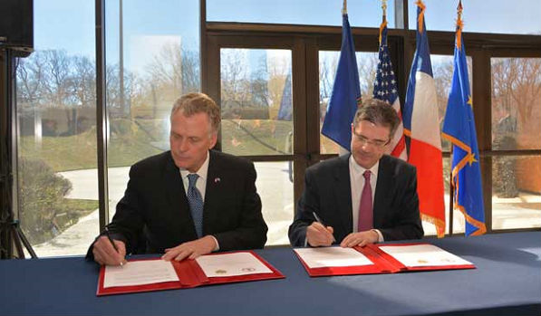 France and Virginia Sign Sustainable Development Agreement'