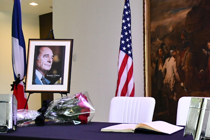 Remembrance of Jacques Chirac at the Embassy of France'