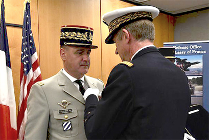 General H. Cottereau awarded with the Military Value Cross'