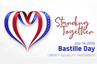 Let's celebrate Bastille Day online!'