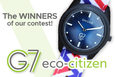 The winners of our G7 eco-citizen contest!